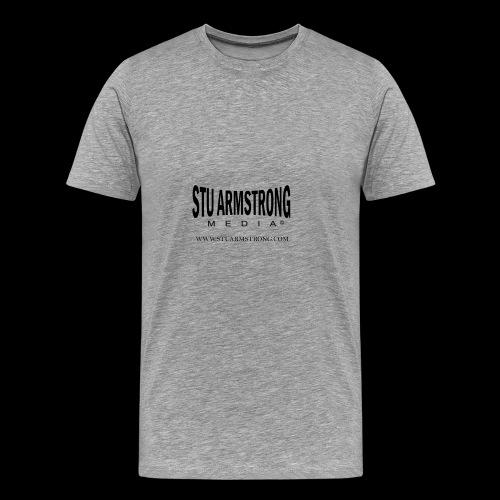 Stu Armstrong Media Black Logo - Men's Premium T-Shirt