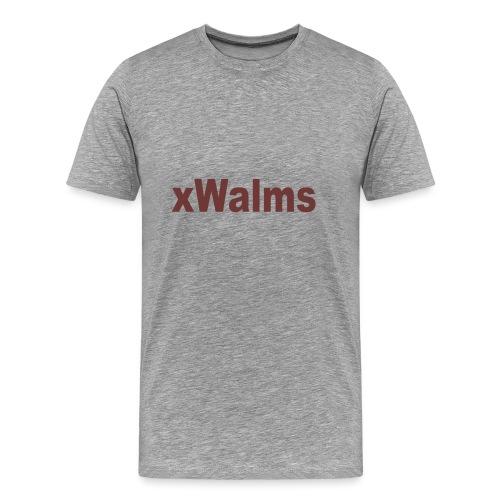 xWalms text Större - Premium-T-shirt herr