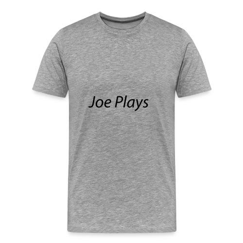 Joe Plays Black logo - Premium T-skjorte for menn