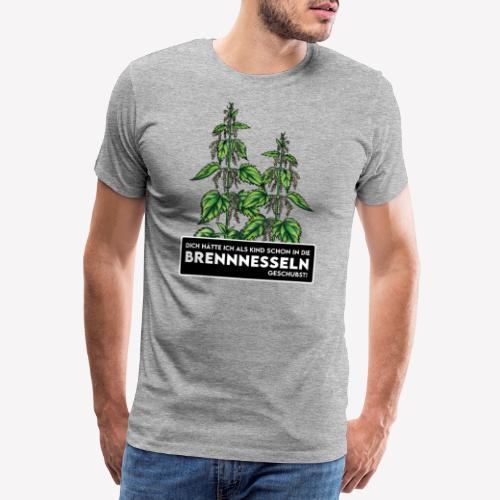 Brennnessel Schubsen - Männer Premium T-Shirt