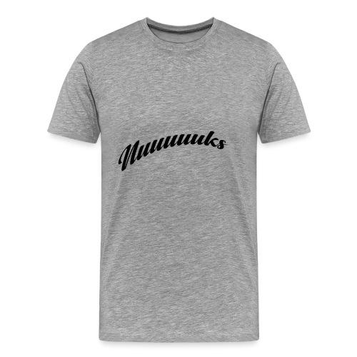 nuuuuks logo - Mannen Premium T-shirt