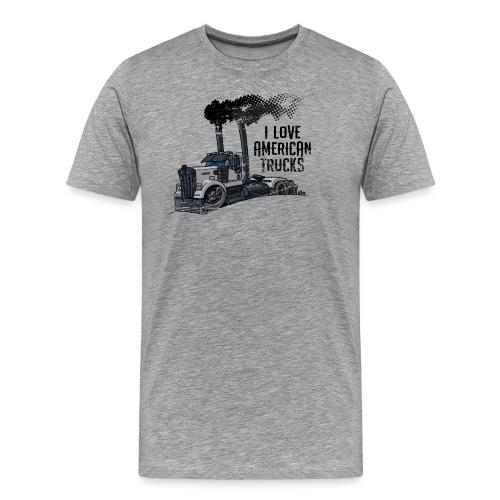 0789 American truck ROUGH smoke - Mannen Premium T-shirt