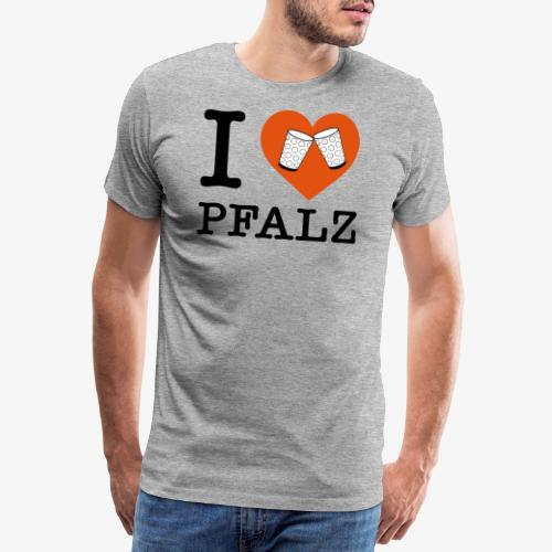 I love Pfalz – Dubbeglas - Männer Premium T-Shirt