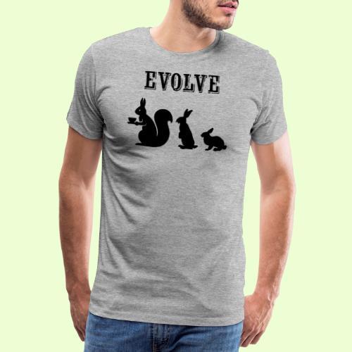 EvolveBunny - Mannen Premium T-shirt
