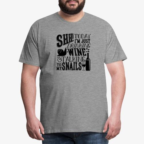 SHH Snails Black - Miesten premium t-paita