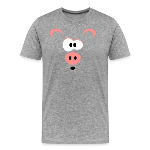 Verbaasd varkentje - Mannen Premium T-shirt