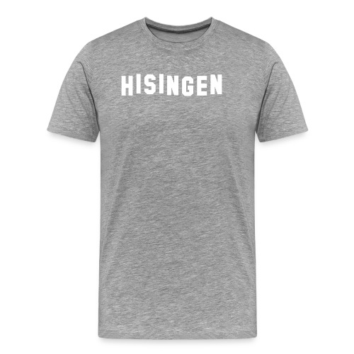 Hisingsskylten vit - Premium-T-shirt herr