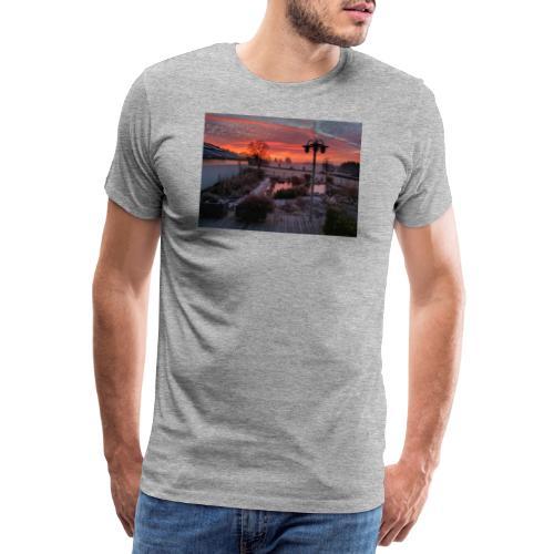 Sunset Belgium Commanster - Men's Premium T-Shirt