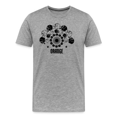Orangevibes Logo schwarz - Männer Premium T-Shirt
