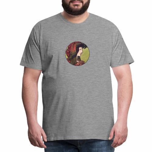 Alphonse Maria Mucha Stained Glass #6 - Men's Premium T-Shirt