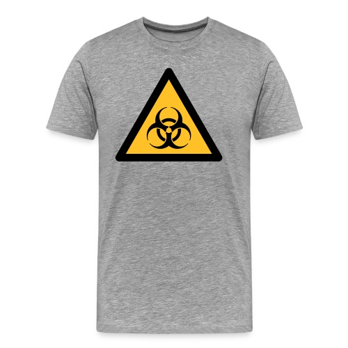 Hazard Symbol - Biohazard (2-color) - Men's Premium T-Shirt