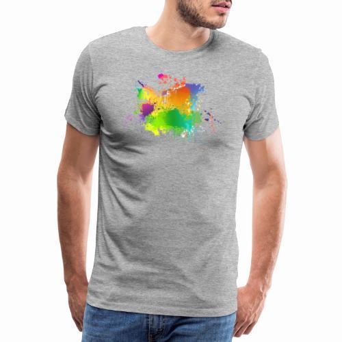 Farbkleckse - Männer Premium T-Shirt