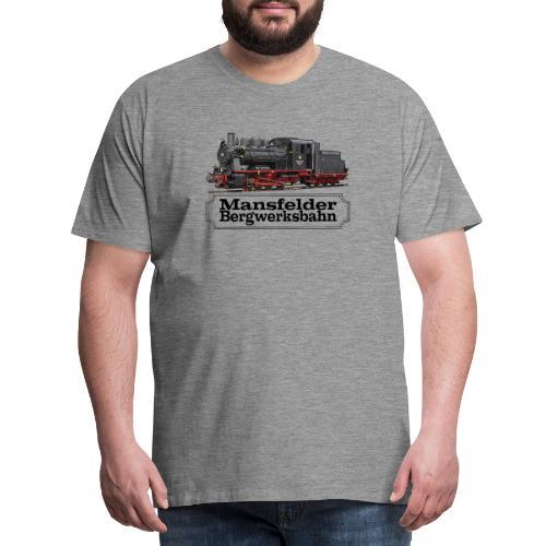 mansfelder bergwerksbahn dampflok 1 - Männer Premium T-Shirt