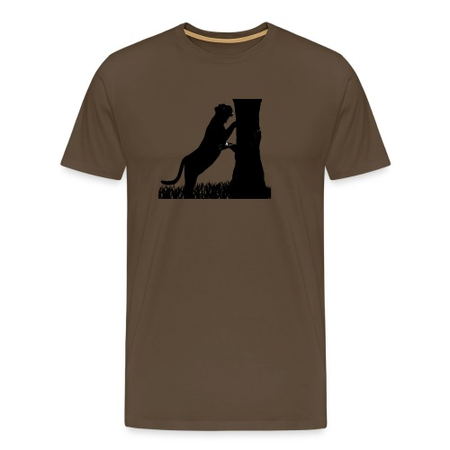 Tiger On A Tree - Maglietta Premium da uomo