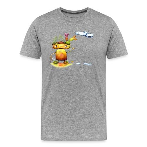 Robot with his plant friends - Mannen Premium T-shirt