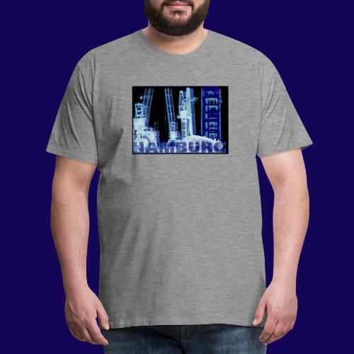 Hamburger Hafen im künstlerischen Siebdruckstil - Männer Premium T-Shirt
