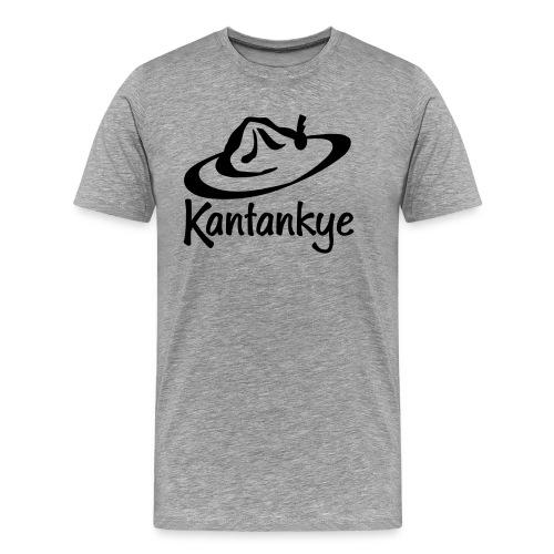 logo hoed naam - Mannen Premium T-shirt