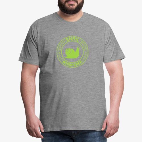 Snail Whisperer Green - Miesten premium t-paita