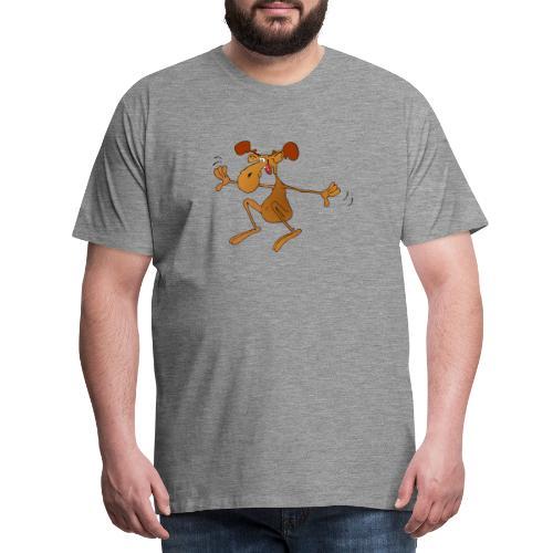 elch huepft - Männer Premium T-Shirt
