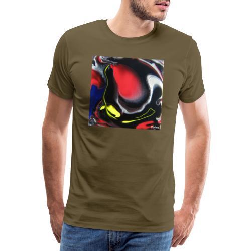 TIAN GREEN Mosaik DK007 - Vortex - Männer Premium T-Shirt