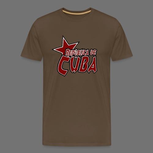 Republica de Cuba mit Stern (oldstyle) - Männer Premium T-Shirt