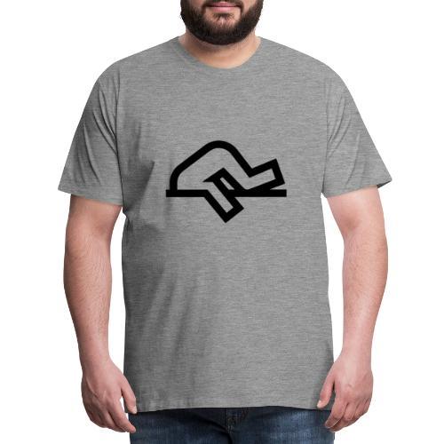 Tête bloqué dans le béton - T-shirt Premium Homme