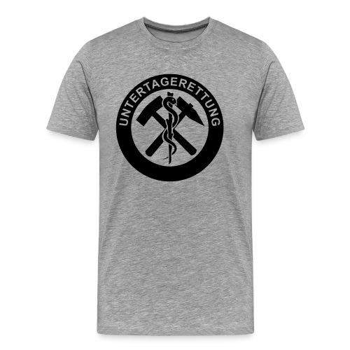 untertagerettung logo 01 - Männer Premium T-Shirt