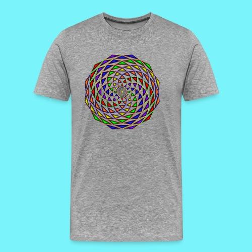 Mandala in rainbow colours - Men's Premium T-Shirt