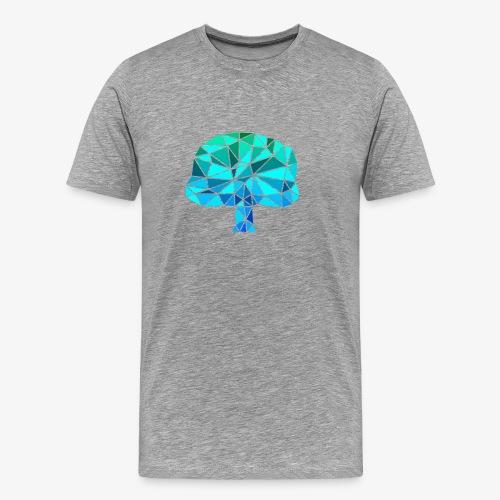Low-Poly Tree G&B - Mannen Premium T-shirt