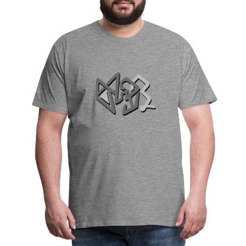 abstract gray decoration - Men's Premium T-Shirt