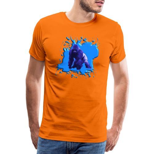 Blauer Gorilla - Männer Premium T-Shirt