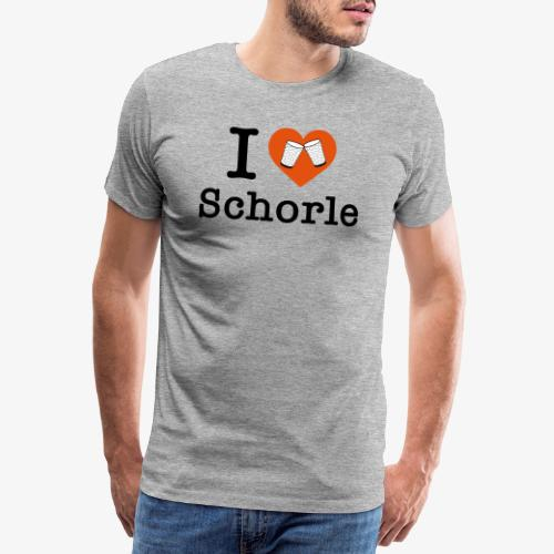 I love Schorle – Dubbeglas - Männer Premium T-Shirt