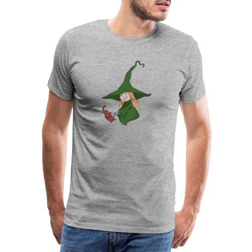 Green Witch sitting - Männer Premium T-Shirt