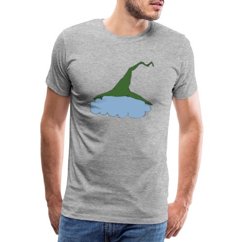Green Witch hat at Cloud - Männer Premium T-Shirt
