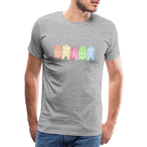 Watercolor Houses - Männer Premium T-Shirt