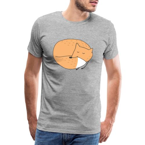 Schlafender Fuchs - Männer Premium T-Shirt