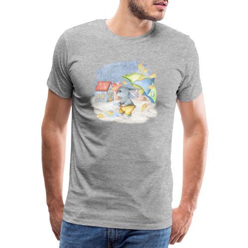 cute rabbit fall - Männer Premium T-Shirt
