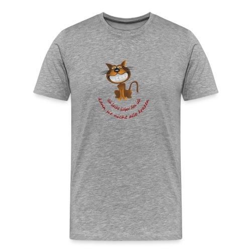 Katze die grinst - Männer Premium T-Shirt