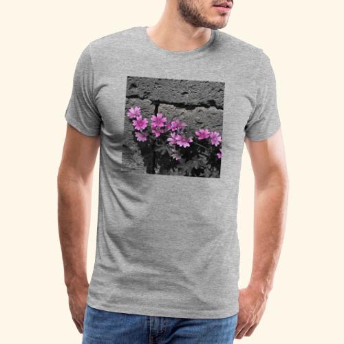 Fiori viola disegnati - Maglietta Premium da uomo