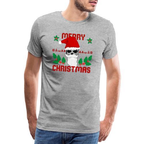 Merry Christmas Skull - Männer Premium T-Shirt