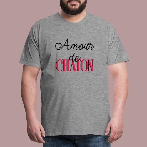 Amour de chaton - T-shirt Premium Homme