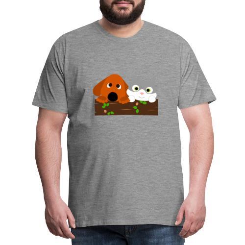 Hund & Katz - Männer Premium T-Shirt