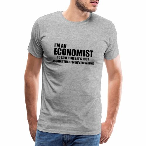 Black Iam An Economist - Männer Premium T-Shirt