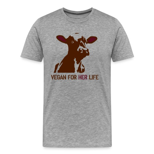 vegan for her life - Männer Premium T-Shirt