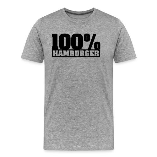 100% Hamburger Typo 2 - Männer Premium T-Shirt