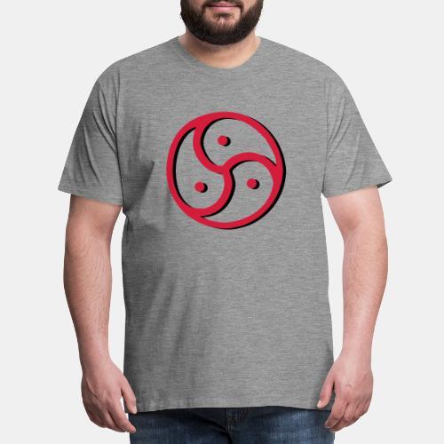 Triskelion - Triskele dual-color - Männer Premium T-Shirt