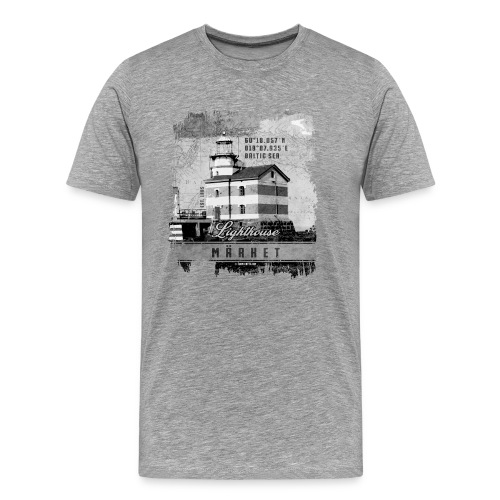Märket majakkatuotteet, Finland Lighthouse, Harmaa - Miesten premium t-paita