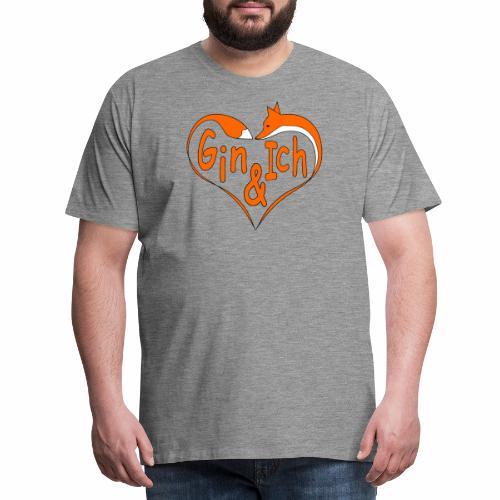 Fuchs Herz - Fuchs-Spirituosen - Männer Premium T-Shirt