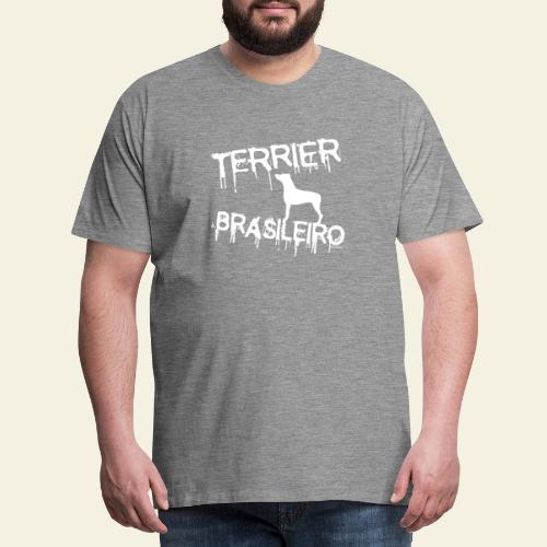 Drip Terrier Brasileiro - Miesten premium t-paita