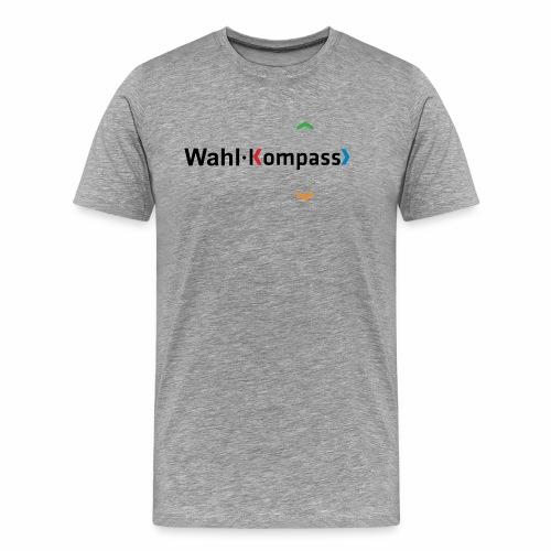 Wahl-Kompass Logo schwarz - Männer Premium T-Shirt